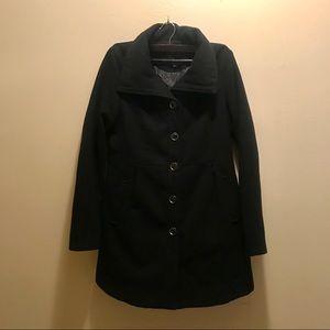 Forever 21 long black pea coat